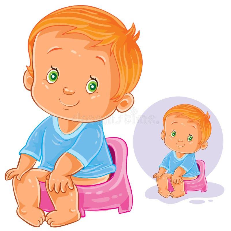Ребенок на горшке мультяшные картинки