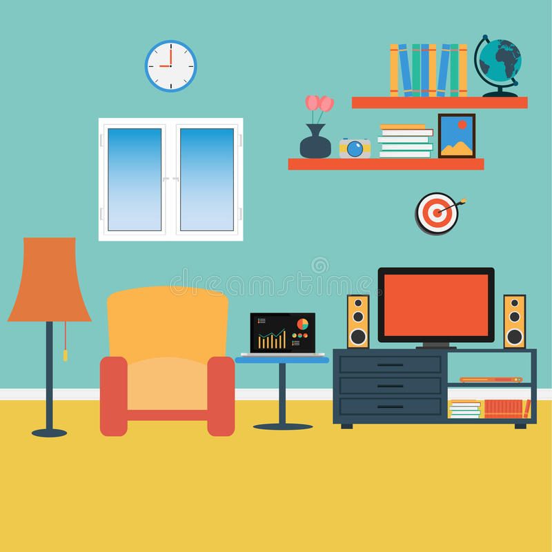 Living Room Background Animated: Vector Of Living Room Stock Vector. Illustration Of Sofa