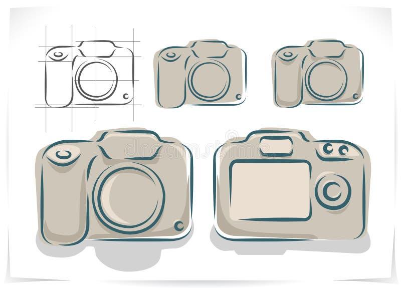 Vector lo schema della macchina fotografica della foto royalty illustrazione gratis
