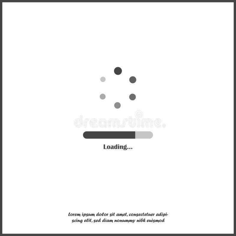 Vector loading icon on white isolated background stock illustration