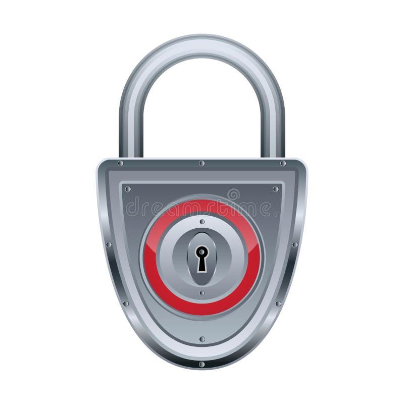 Download Vector lock stock vector. Image of metal, iron, keyhole - 25545839