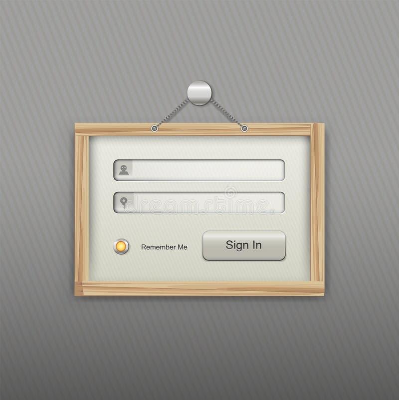 Download Vector login form stock vector. Illustration of design - 26928115