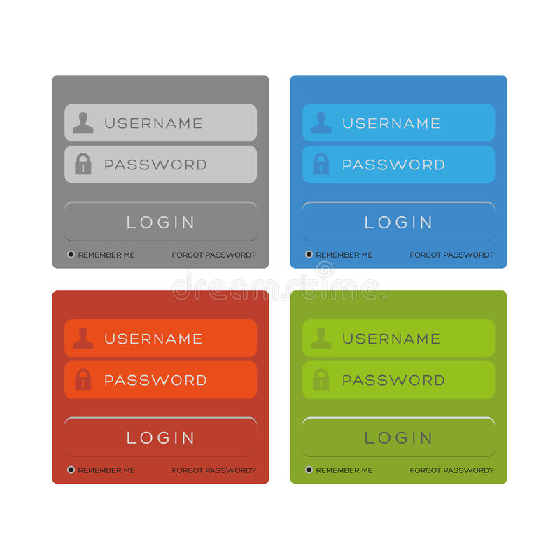 Download Vector login interface stock vector. Image of login, icon - 36925970