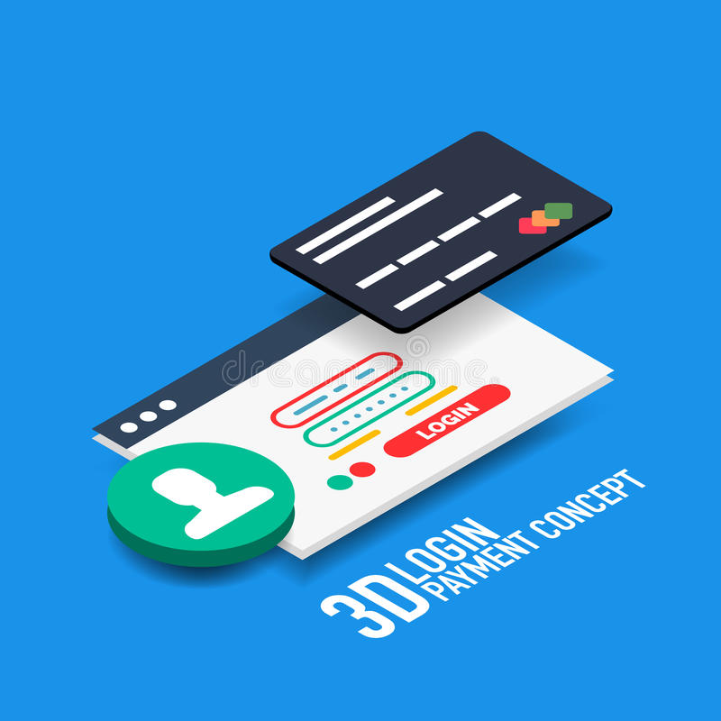 Vector login username and password internet payment concept stock illustration