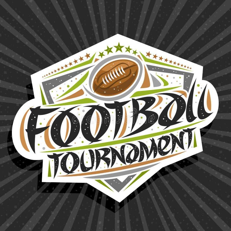 Vector logo for American Football Tournament vector illustration