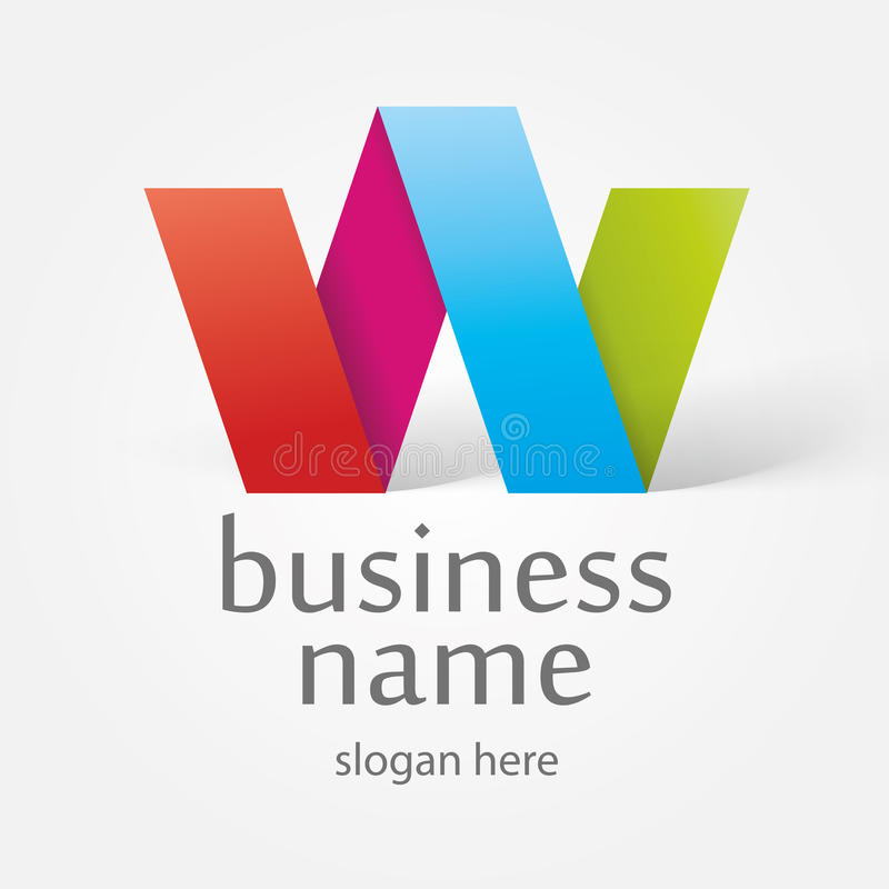 Logo in the form of colorful ribbons stock illustration