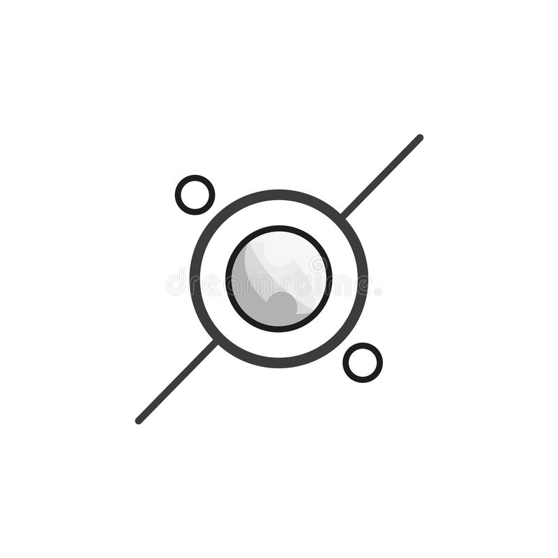 Vector logo of an atom. Isolated on a white background royalty free illustration