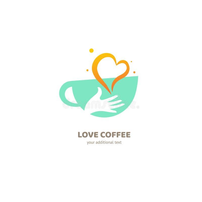 Vector Logo auf Lager, abstrakte Café-, Cafeteria- und Bistrovektorschablone vektor abbildung