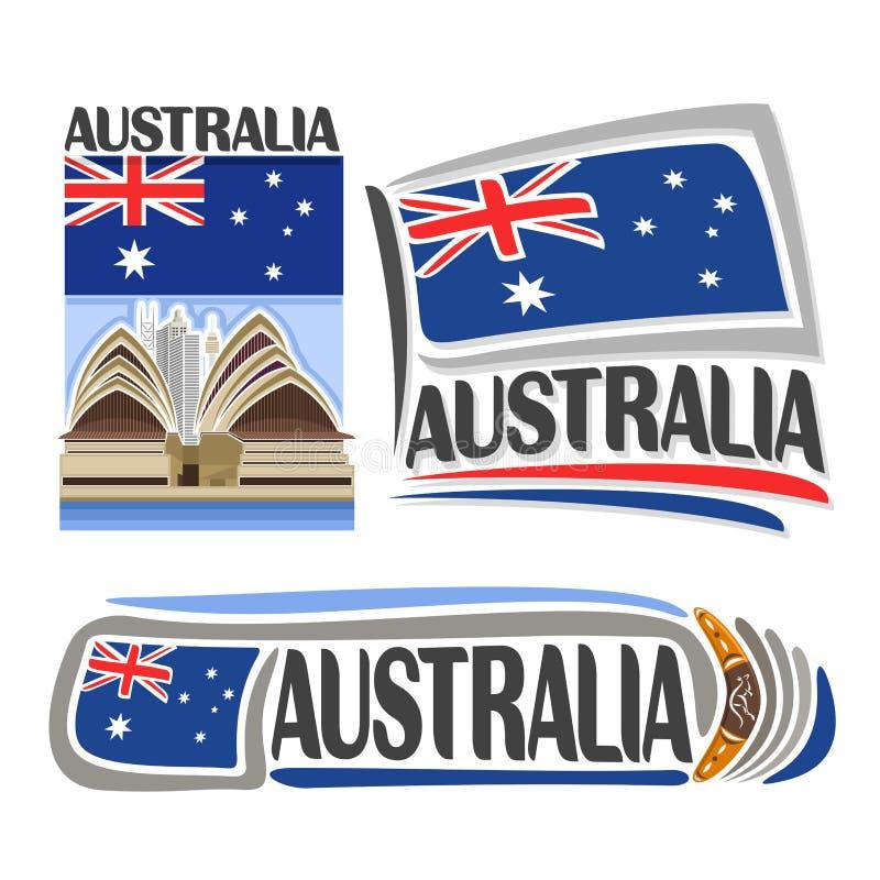 Vector logo Australia stock illustration