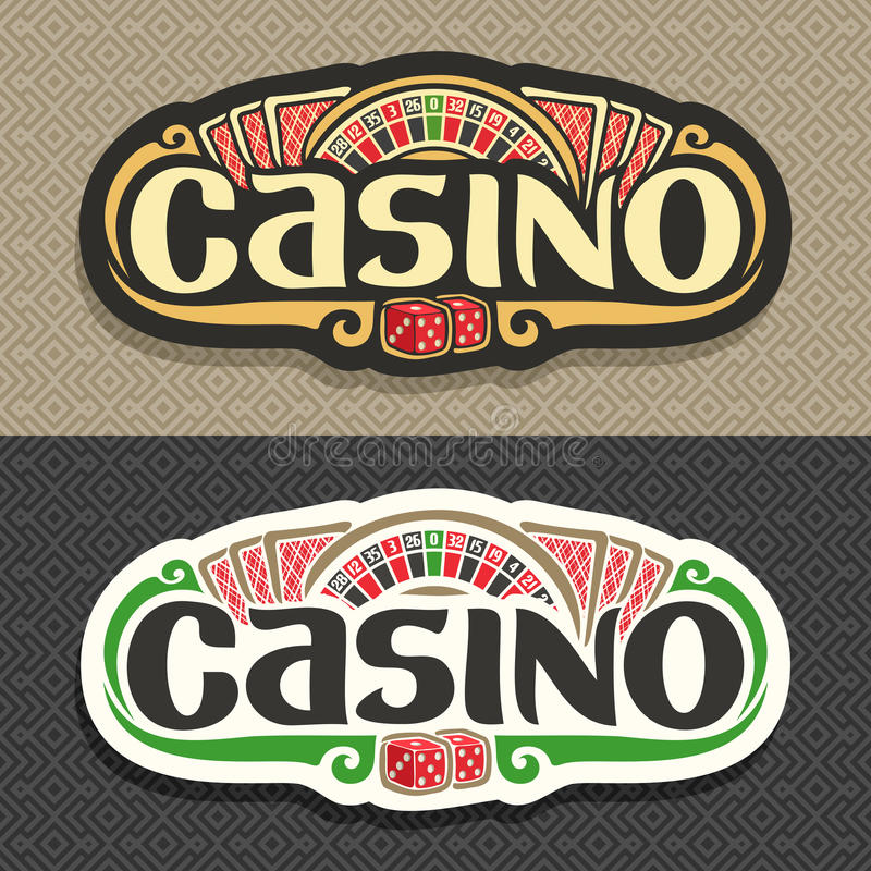 Vector logo for Casino club on geometric background royalty free illustration