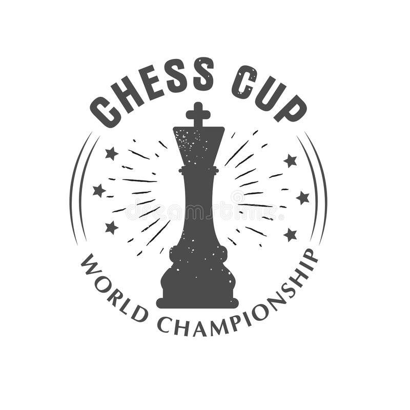 Chess Championship Logo Design, Emblem With Tower Chess