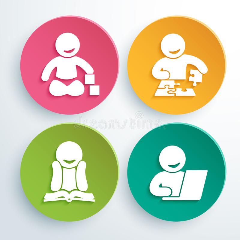 Vector logo of child development club royalty free illustration