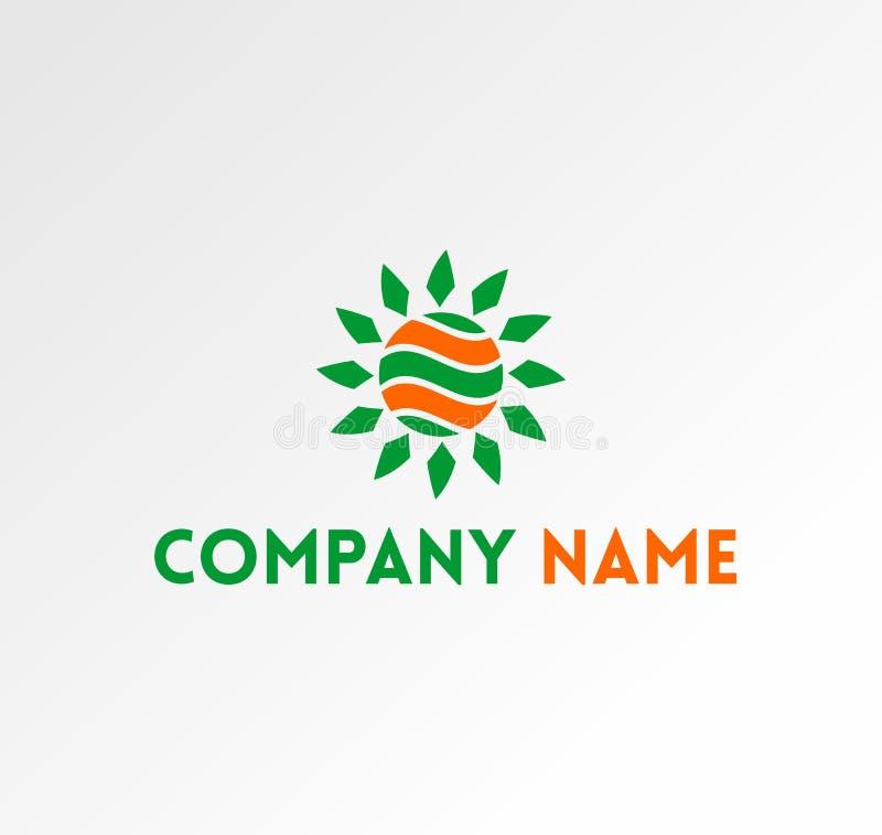 Vector Logo of Circle, Company, and Sun Energy stock illustration