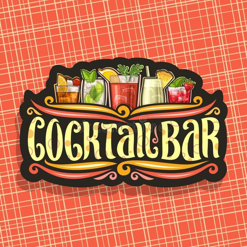 Vector logo for Cocktail Bar stock illustration