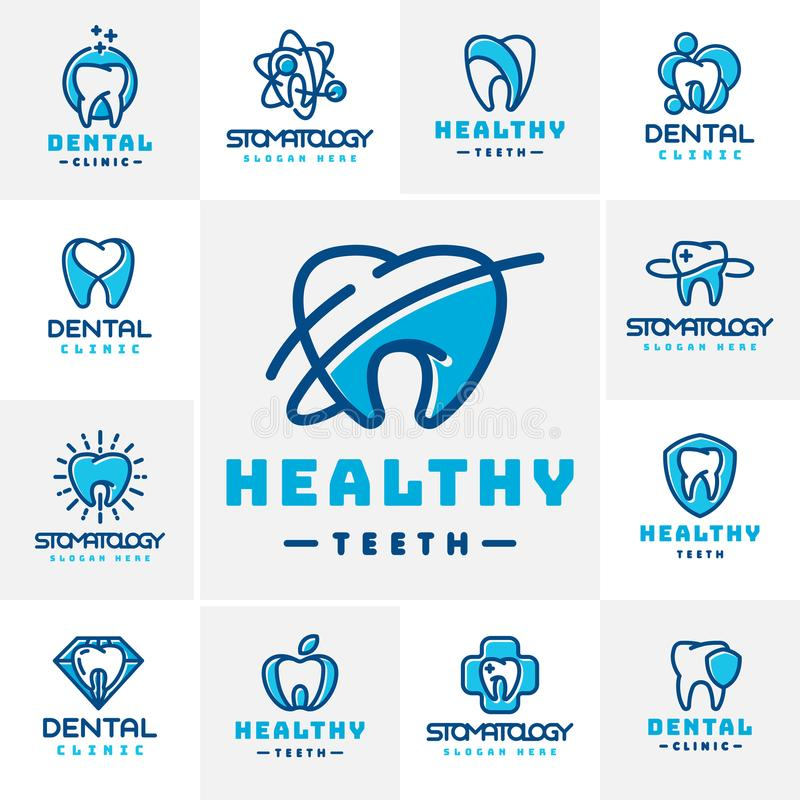Vector dental label protection template illustration abstract stomatology mouth graphic oral element vector illustration