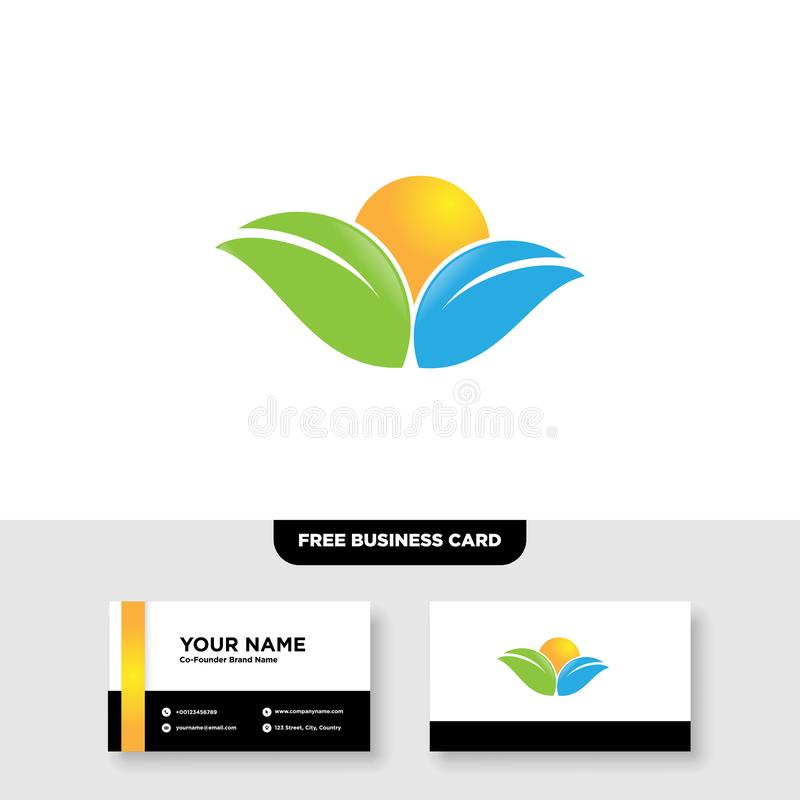 Vector logo design for agriculture, agronomy, rural country farming field, natural harvest. EPS 10, Full Vector, Jpeg High Resolution, 300 DPI stock illustration