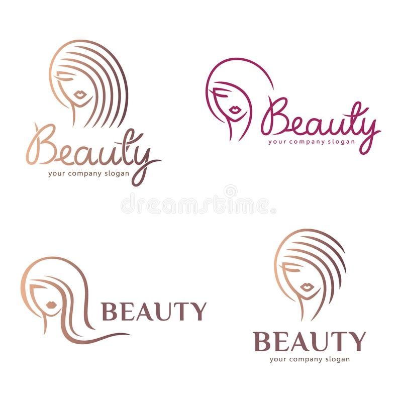 Vector logo design for beauty salon, hair salon, cosmetic. Design element. Vector logo design for beauty salon, hair salon, cosmetic royalty free illustration