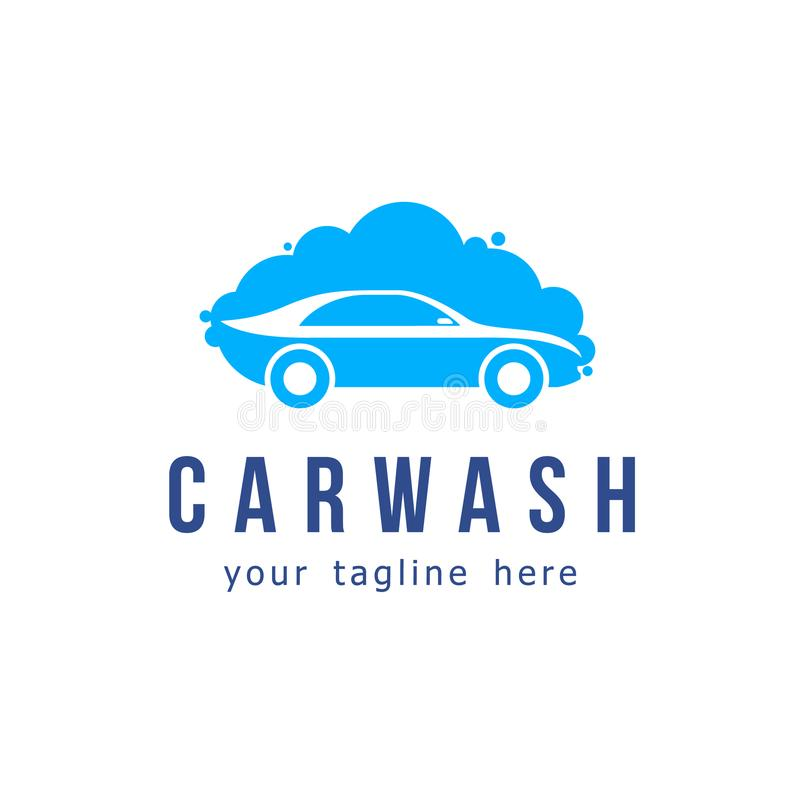 Vector logo design. Car wash service stock illustration