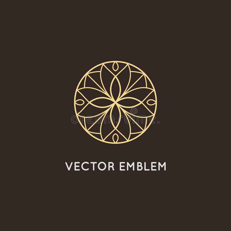 Vector logo design - cosmetics and beauty concept stock illustration