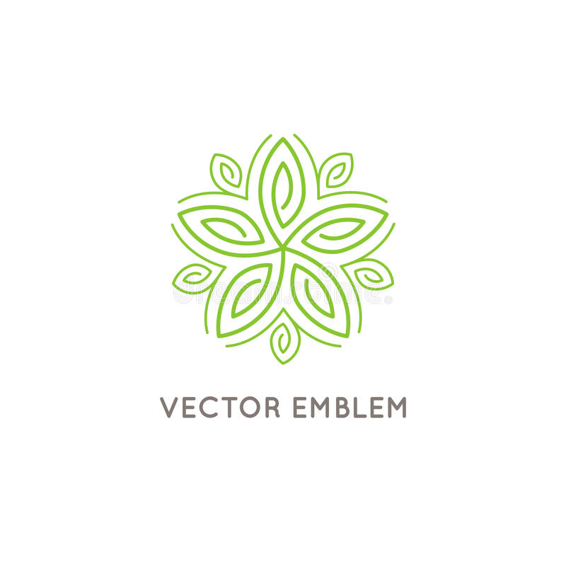 Vector logo design - cosmetics and beauty concept vector illustration