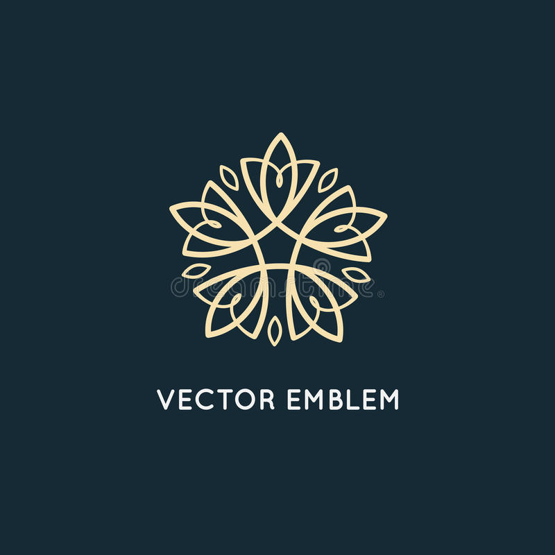 Vector logo design - cosmetics and beauty concept royalty free illustration