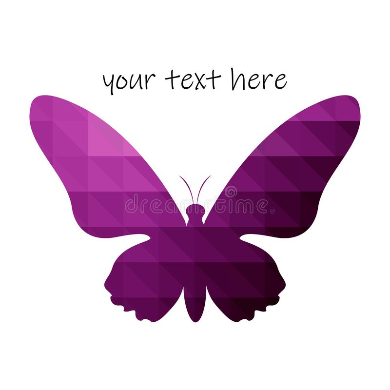 Vector logo design element, abstract image of a butterfly. Eps10 stock illustration