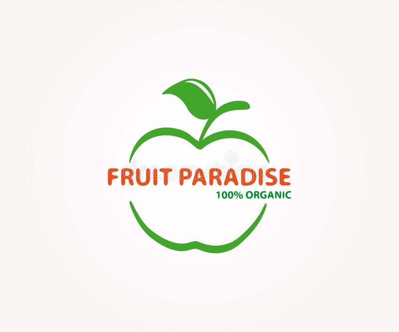 Vector Logo Design Element. Apple, Fruit, Eco Stock Vector ...
