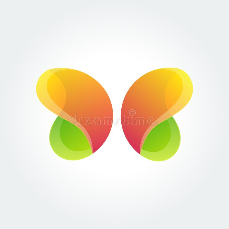 Vector logo design element. Butterfly, creative stock illustration