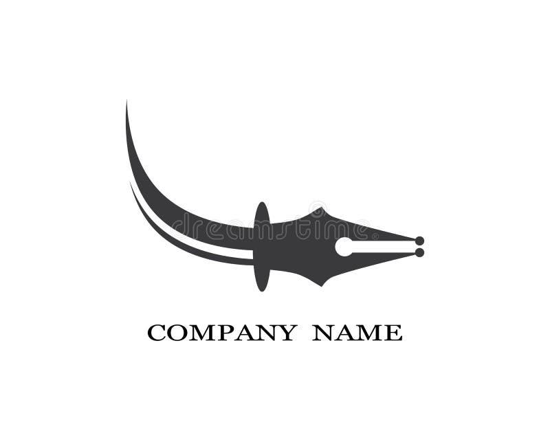 Feather pen Logo template Vector illustration royalty free illustration