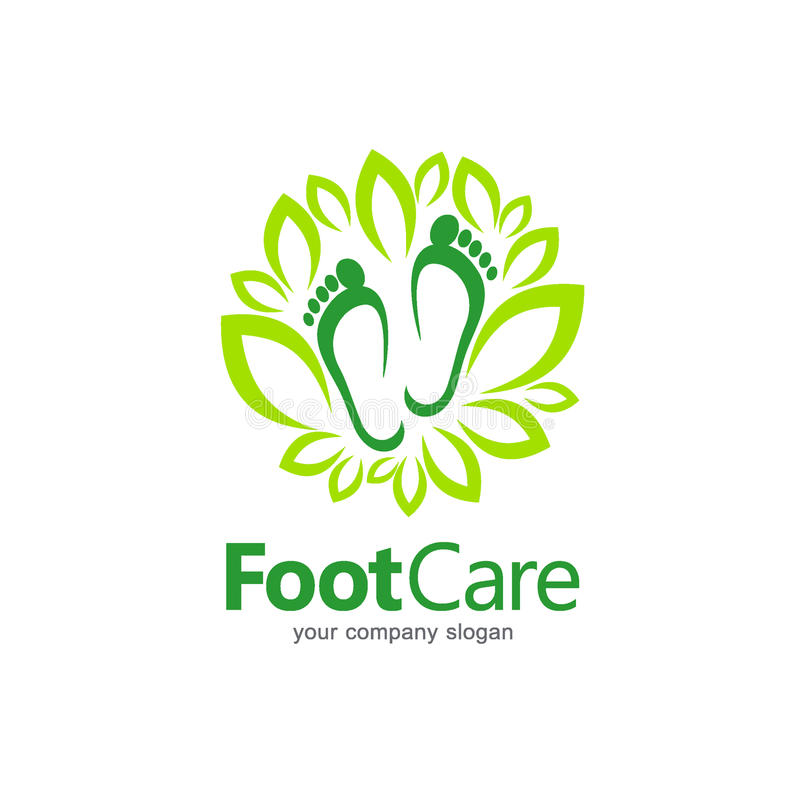 Vector logo design. Foot care royalty free illustration