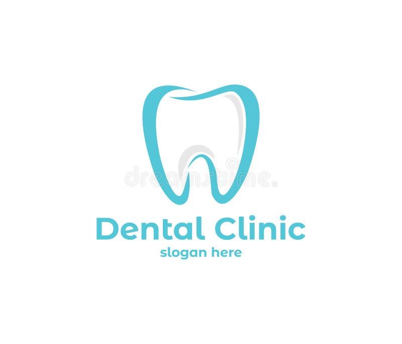 Vector logo design illustration for dental clinic healthcare, dentist practice, tooth treatment, healthy tooth and mouth. Vector logo design illustration perfect stock illustration