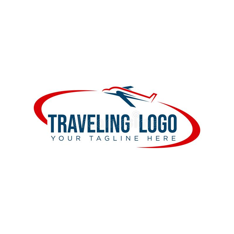 Tour and travel agency logo design template. Vector logo design illustration for tour and travel agency, trip advisor, aviation company and adventure event stock illustration