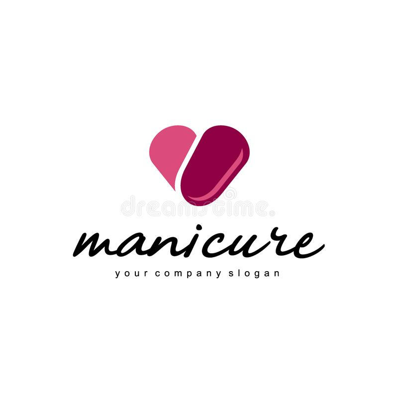 Vector logo design for manicure and nail salon. Vector template. Abstract icon