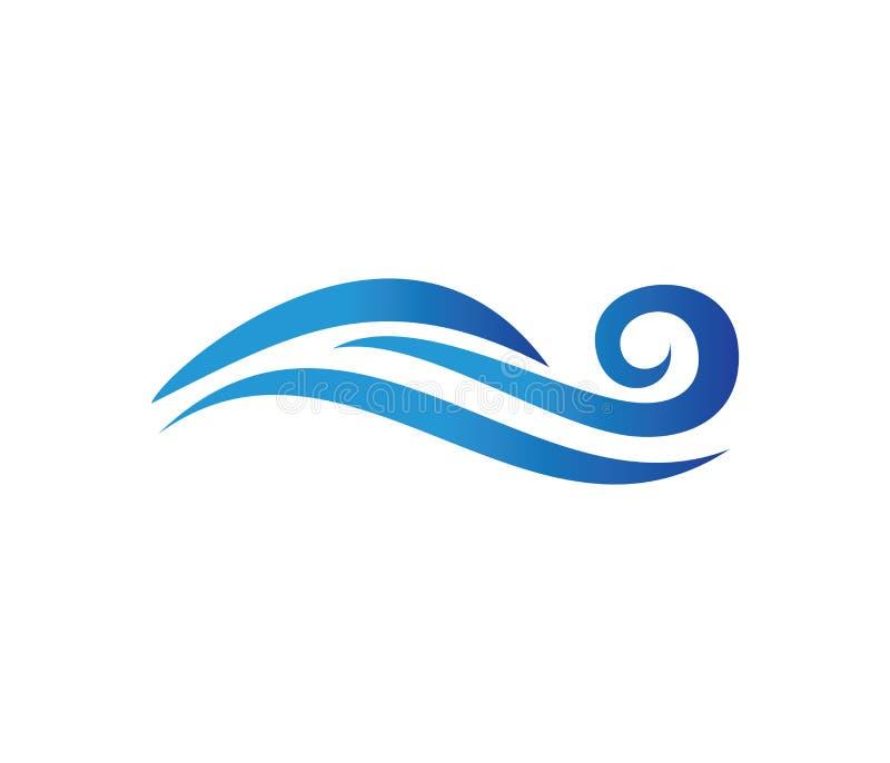 Vector logo design for dynamic wave, ocean sea water wave home resort, sailing boat, ocean cruise tour vector illustration