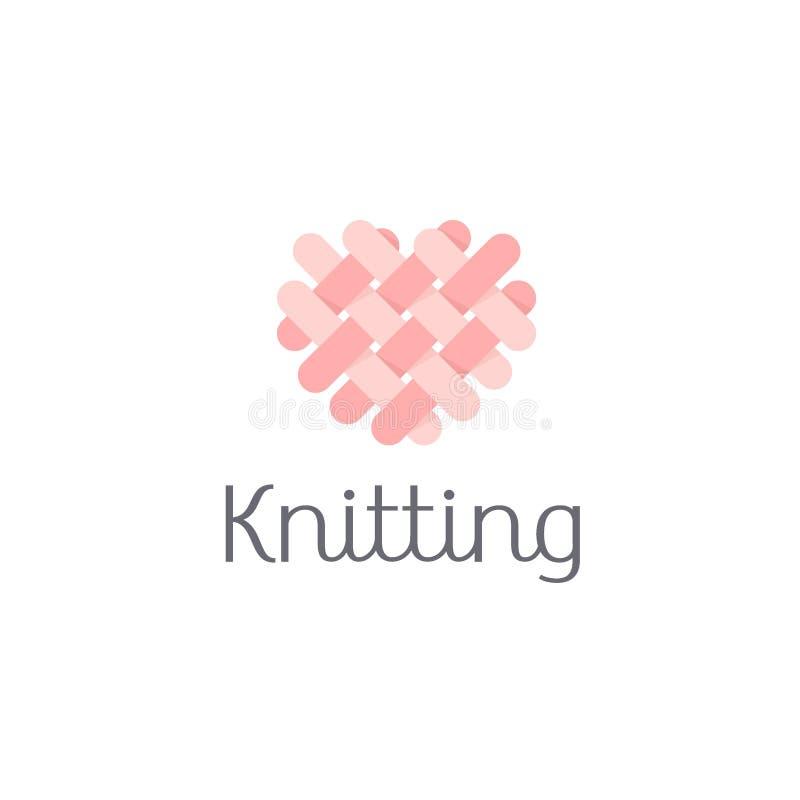 Vector logo design for shop knitting royalty free illustration