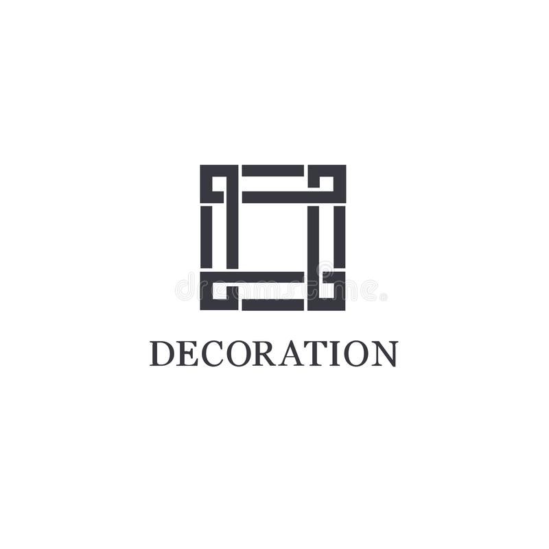 Vector logo design template for boutique hotel, restaurant, jewelry. vector illustration