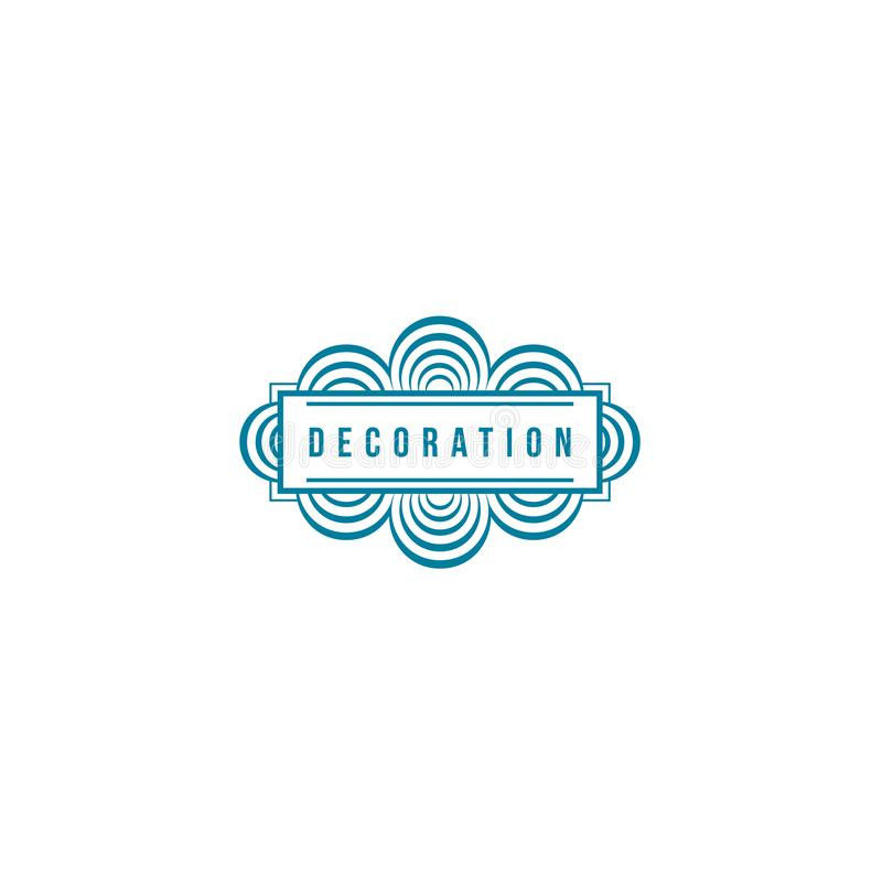 Vector logo design template for boutique, hotel, restaurant, jewelry. Luxury monogram. Decoration stock illustration