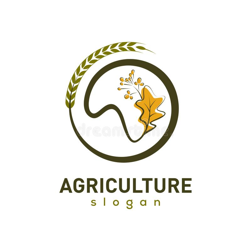 Vector Logo Design Template de Agriculture Company libre illustration