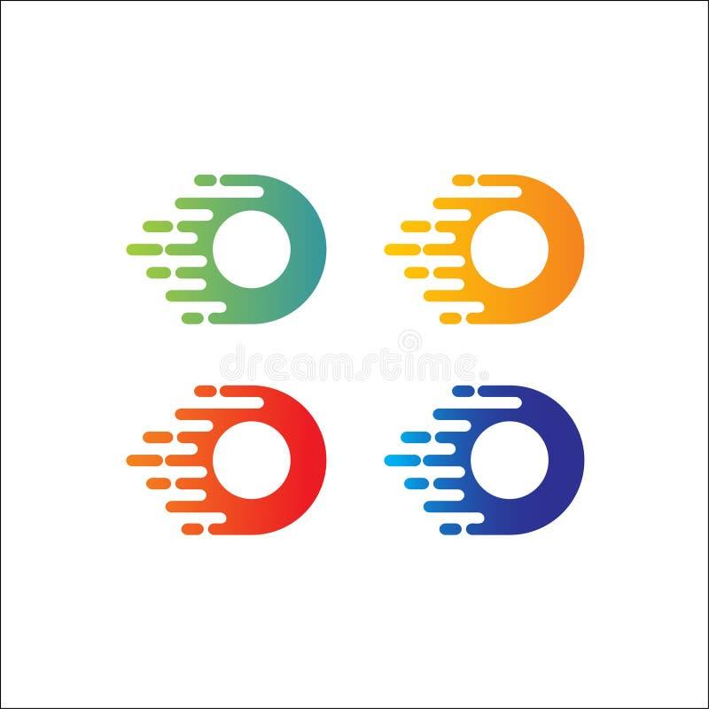 Vector Logo Design Template del extracto de la letra de O ilustración del vector