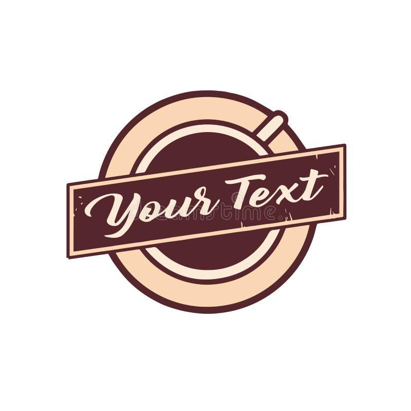 Vector Logo Design Template del té y de la cafetería ilustración del vector