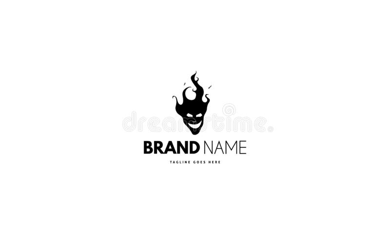 Vector logo on which an abstract image of the head of Satan. Vector logo design on which an abstract image of the head of Satan vector illustration