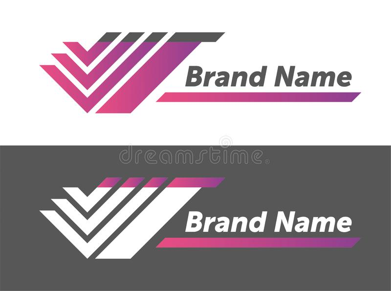 Vector logo design. your brand name design. creative designing logotype. stock illustration