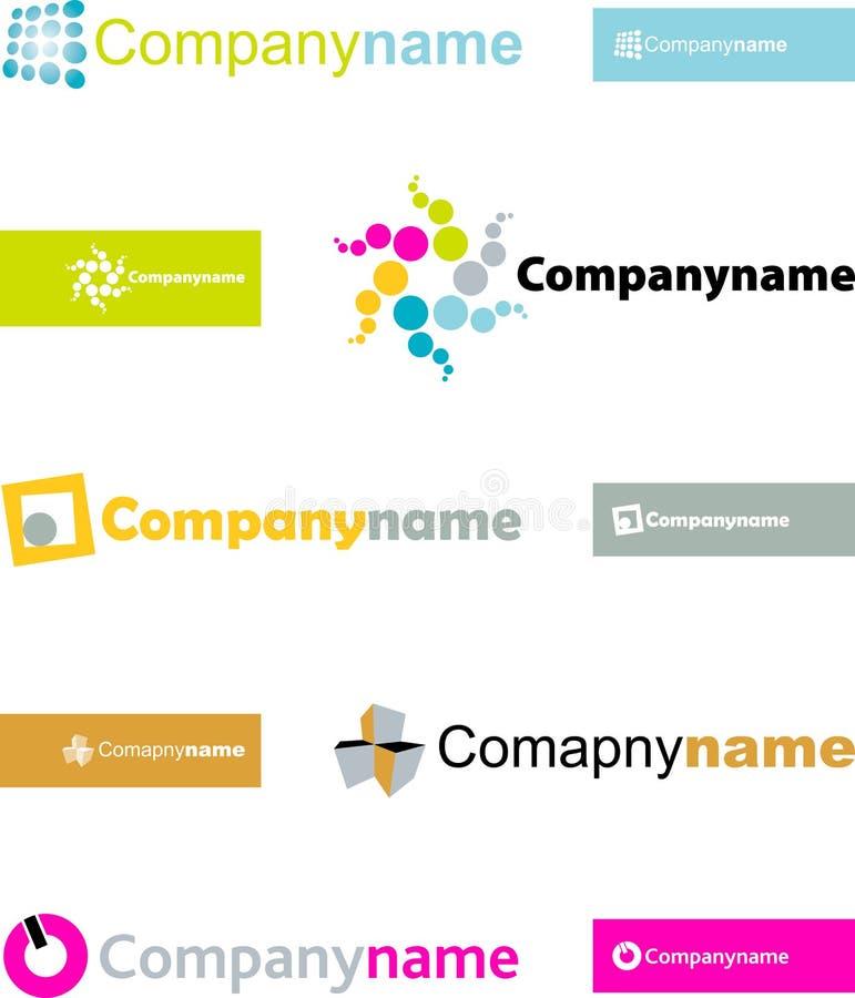 Vector logo elements royalty free stock photography
