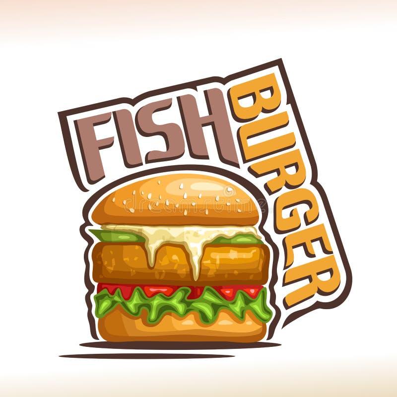 Vector logo for Fish Burger vector illustration