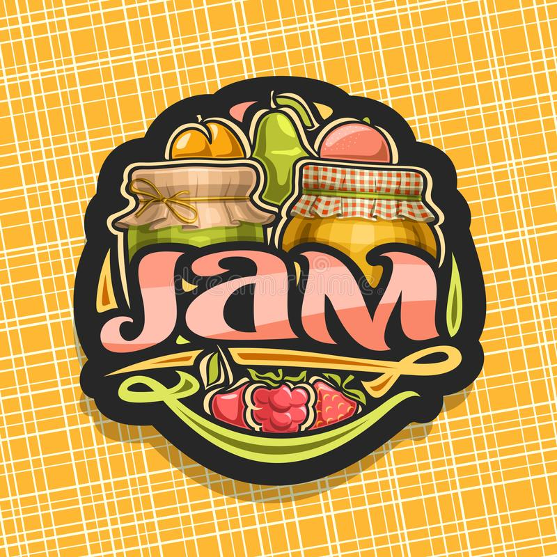Free Vector Logo For Fruit Jam Stock Photo - 137729060