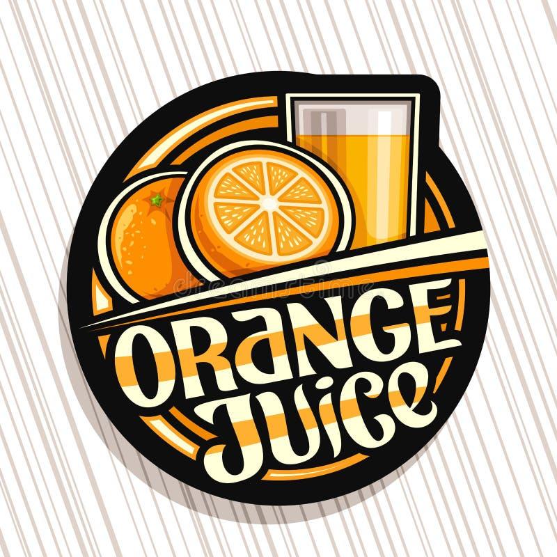 Free Vector Logo For Orange Juice Stock Images - 186829034