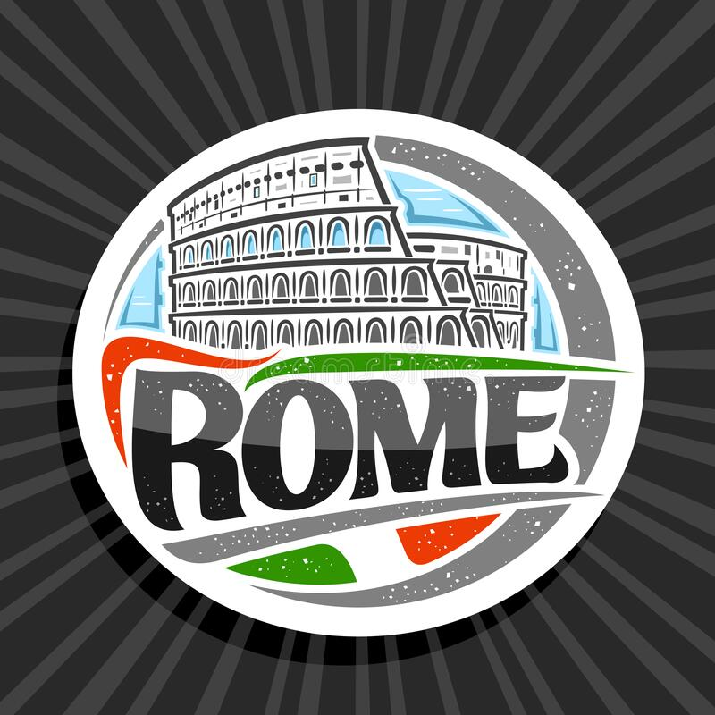 Free Vector Logo For Rome Stock Image - 171972511