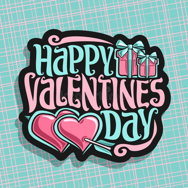 Free Vector Logo For St. Valentine`s Day Stock Image - 105172751