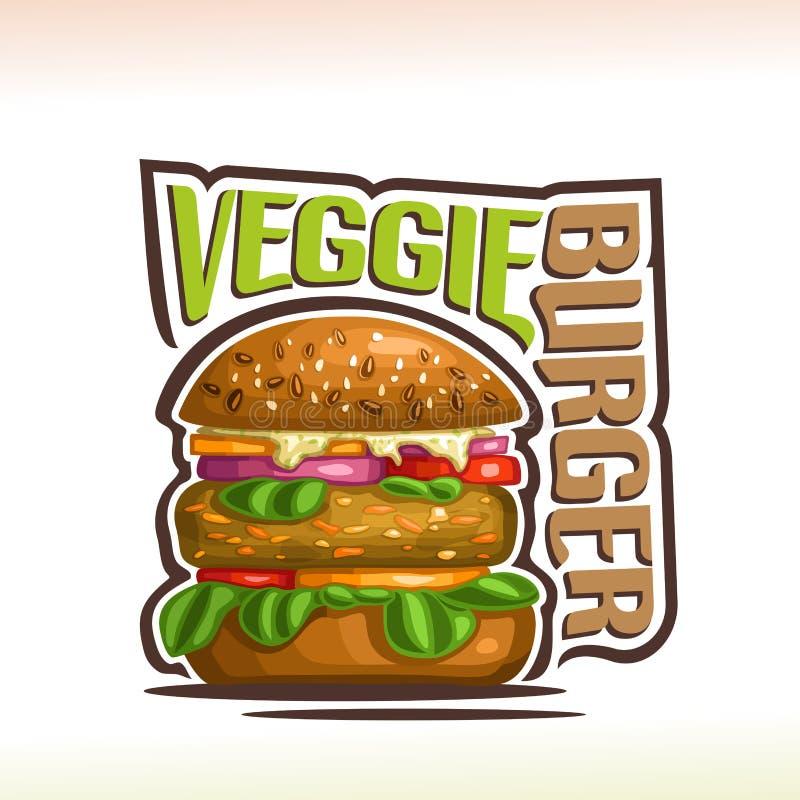 Free Vector Logo For Veggie Burger Royalty Free Stock Photos - 117561888
