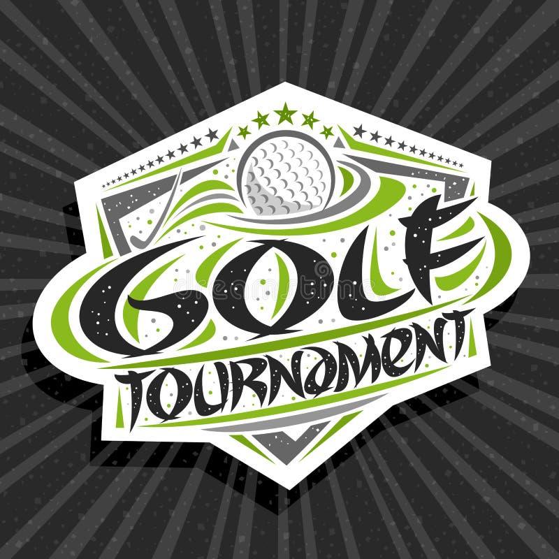 Detailed Vintage Golf Logo Template